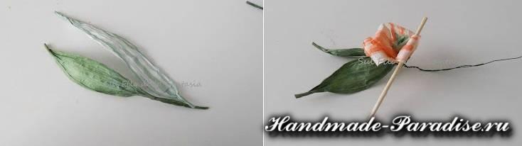 Мыльная корзинка с цветами из бумажной рафии (6)