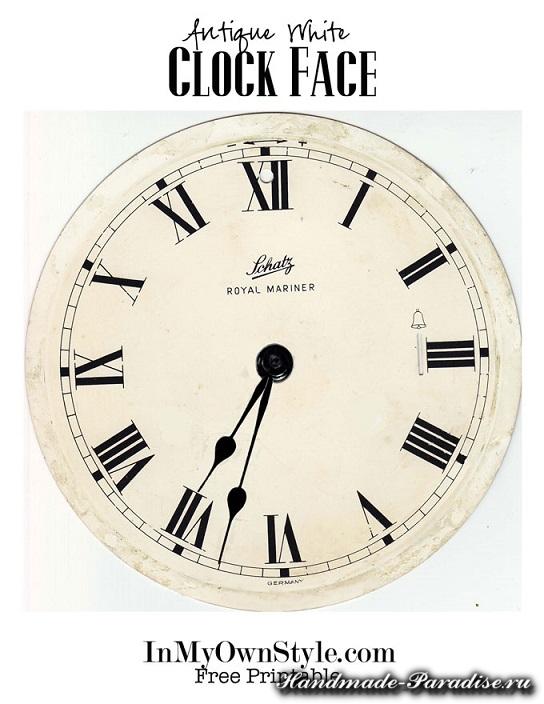 Новогодний венок с циферблатом часов (2)