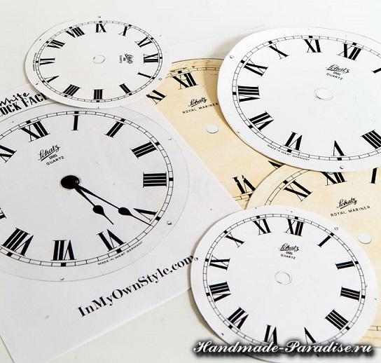 Новогодний венок с циферблатом часов (3)