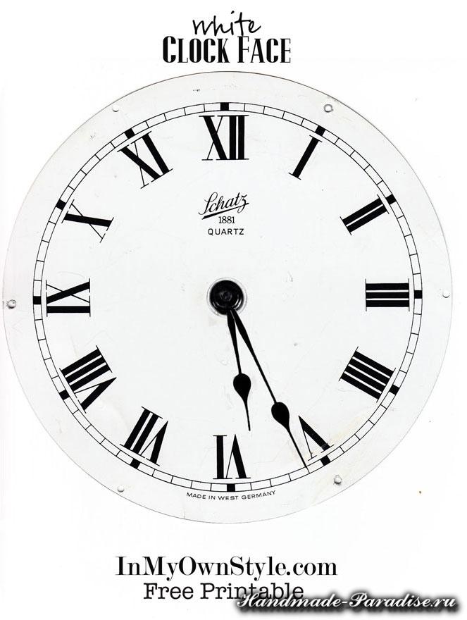 Новогодний венок с циферблатом часов (4)
