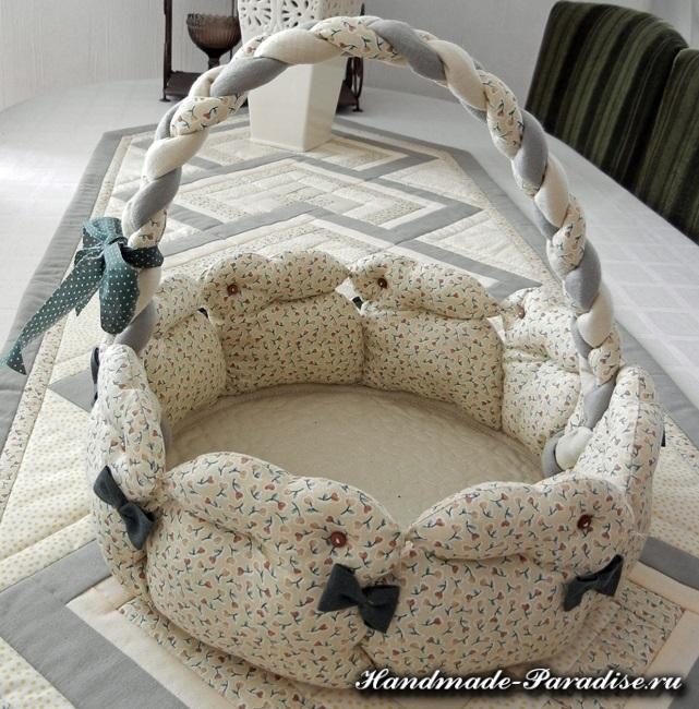 Пасхальные корзинки с кроликами из ткани