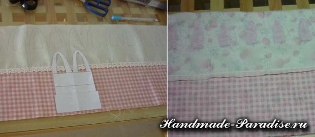 Пасхальные корзинки с кроликами из ткани (3)
