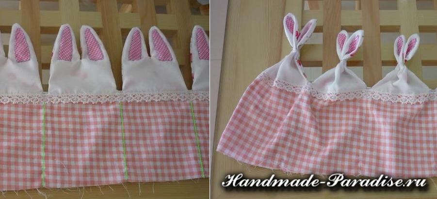 Пасхальные корзинки с кроликами из ткани (5)