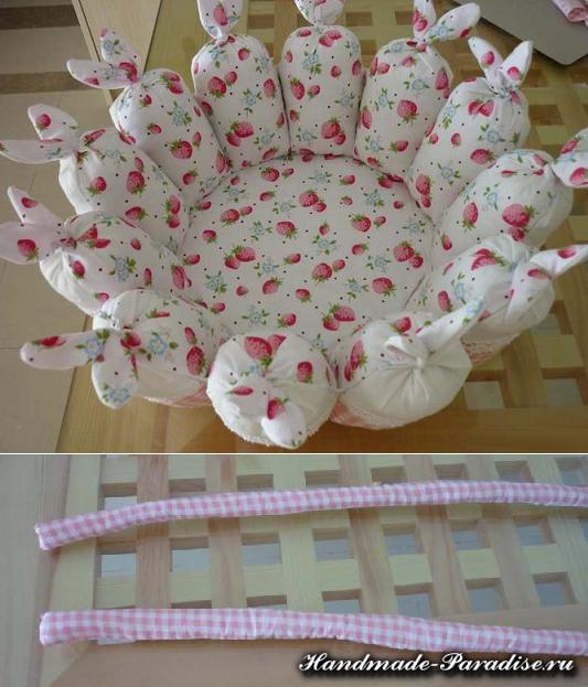 Пасхальные корзинки с кроликами из ткани (8)
