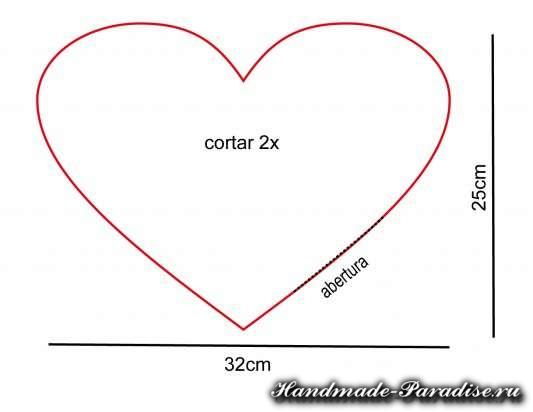 Подушка сердце с руками для влюбленных (3)