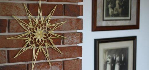 Рождественская звезда из соломки