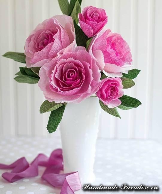 Розы из гофрированной бумаги. Мастер-класс (3)