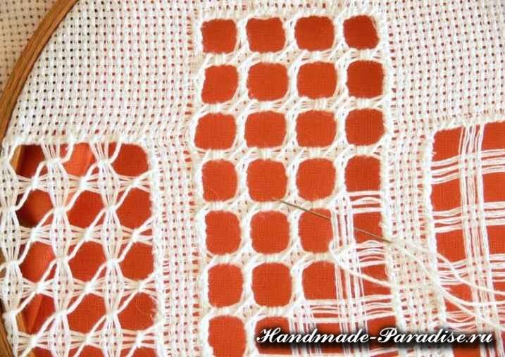 Саше своими руками с вышивкой мережкой (8)