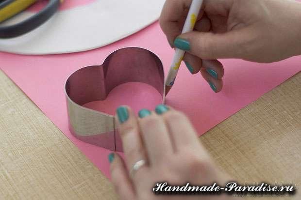 Венок из бумаги ко дню Святого Валентина (4)