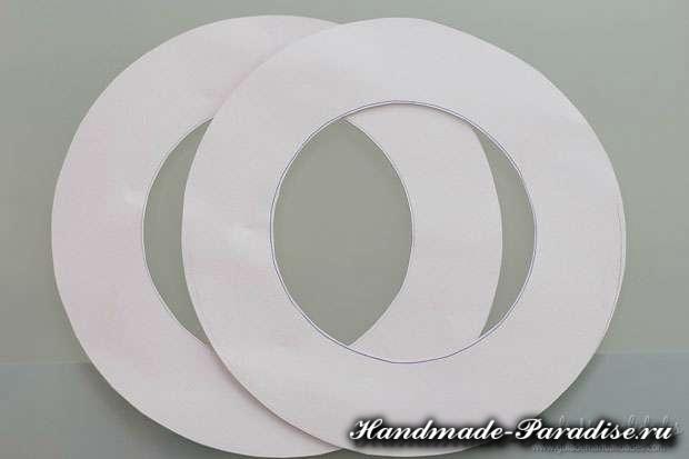 Сердечный венок из бумаги ко дню Святого Валентина (8)