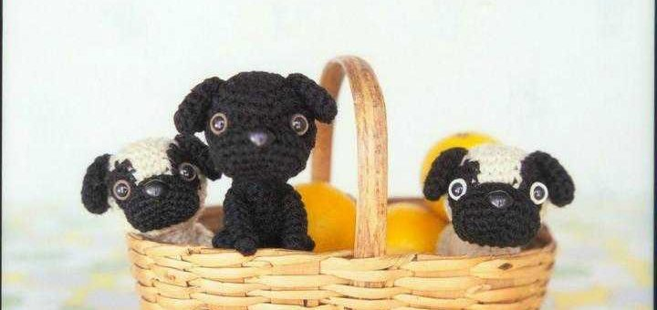 Собачки амигуруми крючком. Схемы