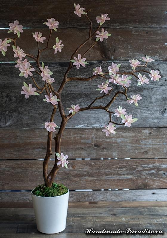 Цветущие деревья из гофрированной бумаги (11)