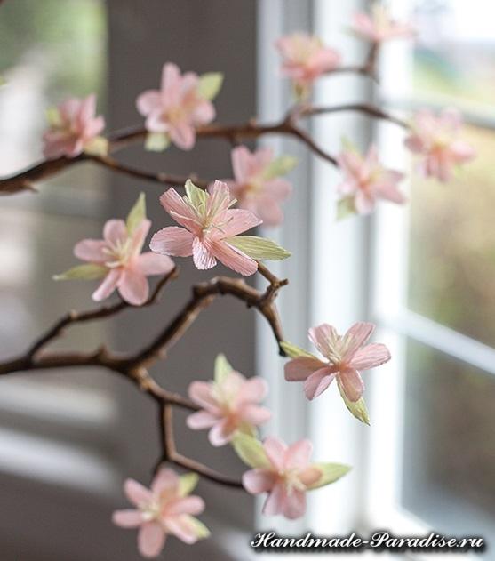 Цветущие деревья из гофрированной бумаги (12)