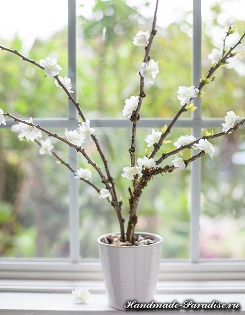 Цветущие деревья из гофрированной бумаги (3)
