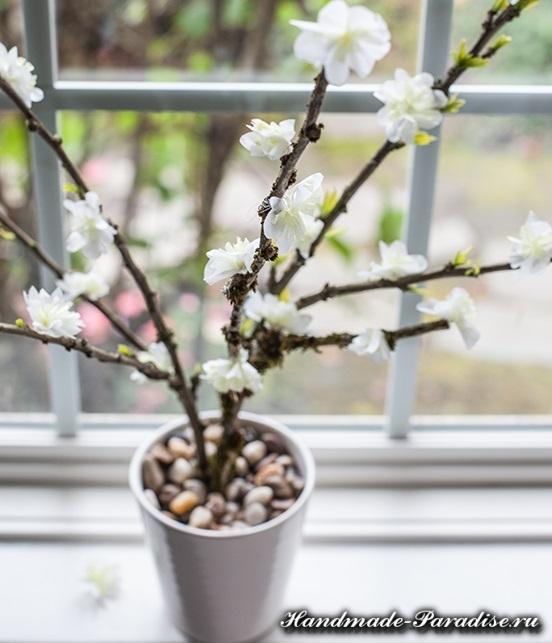 Цветущие деревья из гофрированной бумаги (5)