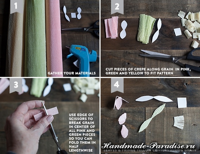 Цветущие деревья из гофрированной бумаги (6)