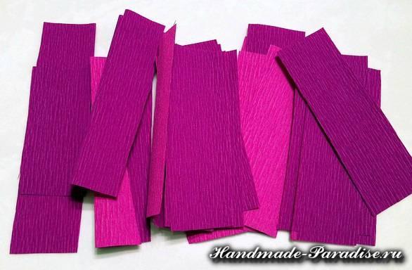 Цветы магнолии из гофрированной бумаги (2)