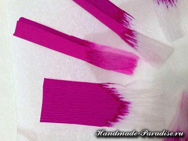 Цветы магнолии из гофрированной бумаги (4)