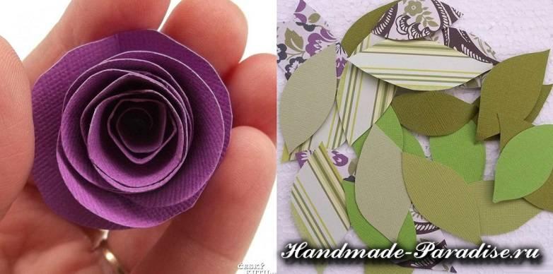 Венок в стиле Прованс с розами из бумаги (5)