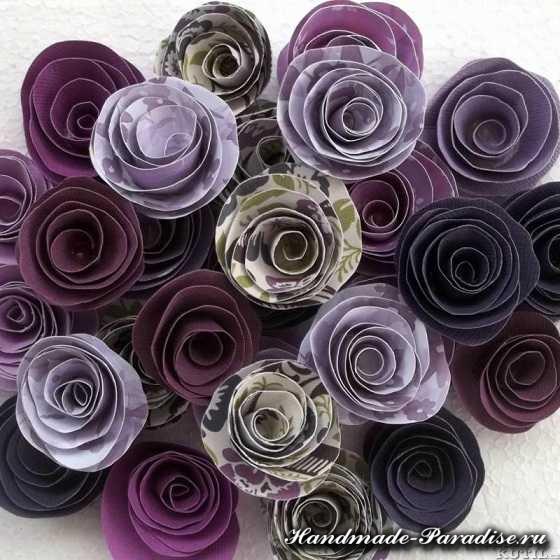 Венок в стиле Прованс с розами из бумаги (6)