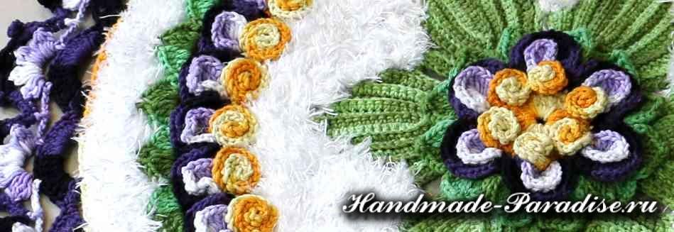 Вязание крючком ковриков с пряжей травка (4)