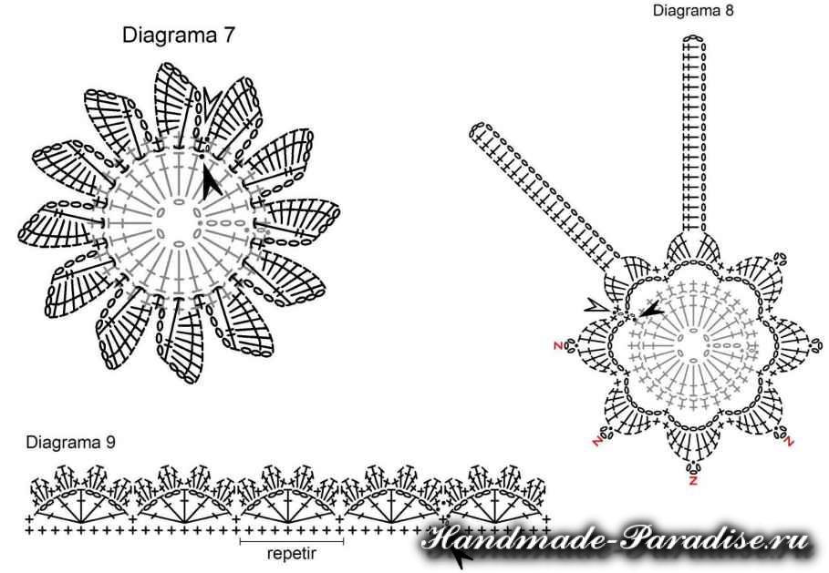 Вязание крючком ковриков (9)