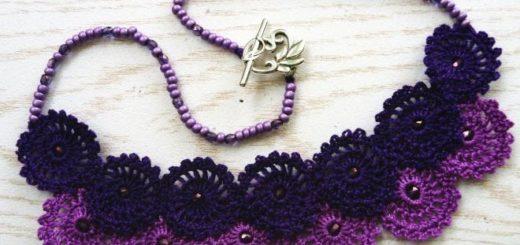 Вязаное крючком ожерелье