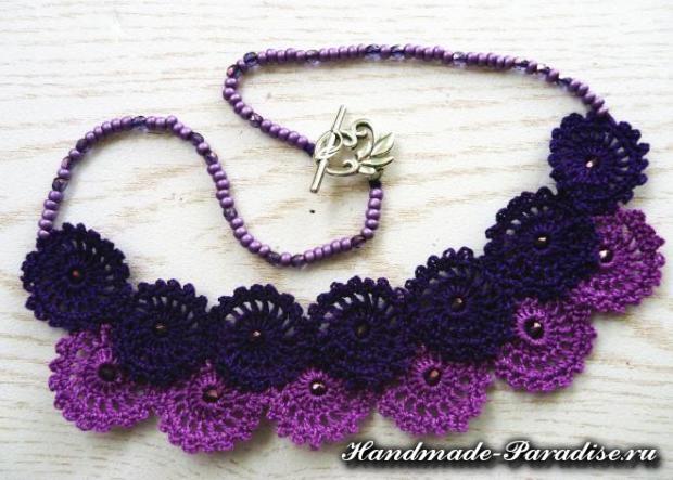 Вязаное крючком ожерелье (6)