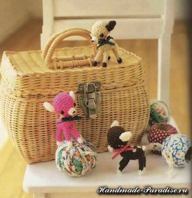 Вяжем игрушки амигуруми крючком (2)
