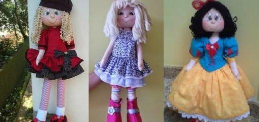 Выкройка текстильных кукол
