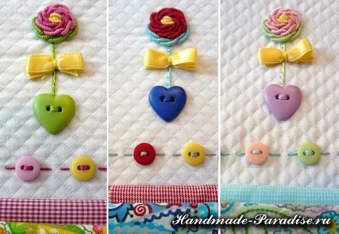 Вышивка розочек рококо для детской одежды (13)