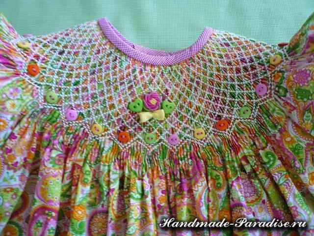 Вышивка розочек рококо для детской одежды (2)