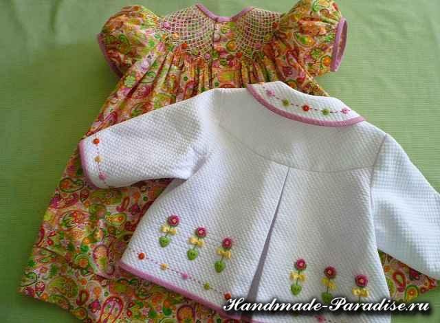 Вышивка розочек рококо для одежды (3)