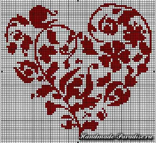 вышивка ко дню Святого Валентина (16)