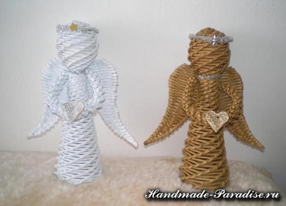 Ангелы из газетных трубочек (15)