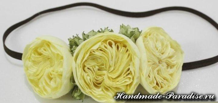 Английские розы из ткани