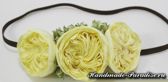 Английская роза Дэвида Остина из ткани