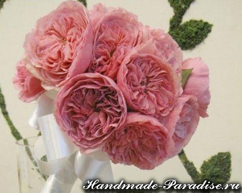Английские розы из ткани (2)