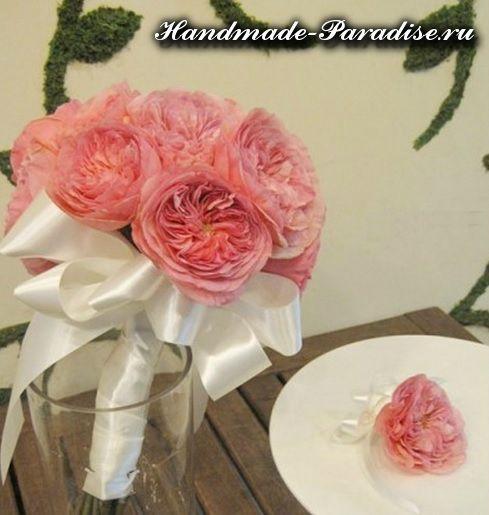 Английские розы из ткани (3)