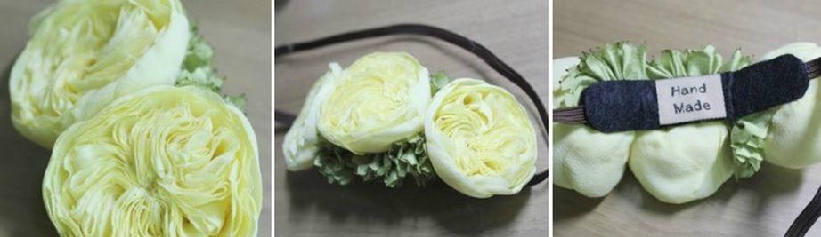 Английская роза Дэвида Остина из ткани (8)