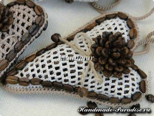 Ароматная кофейная валентинка крючком (3)