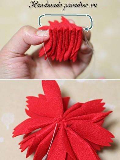 Декоративные горшочки с цветами из фетра (2)