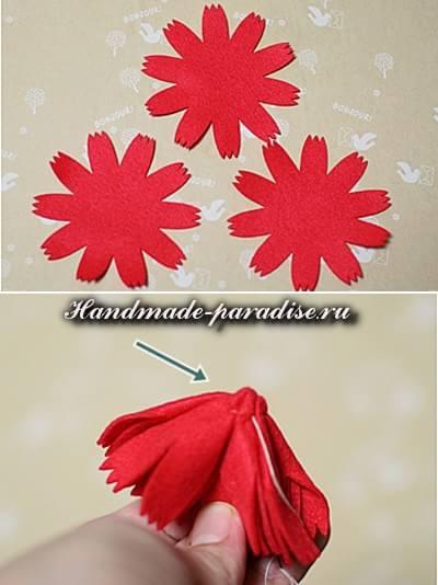 Декоративные горшочки с цветами из фетра (3)