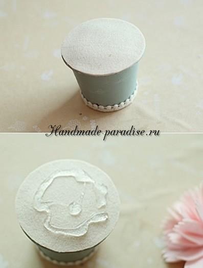 Декоративные горшочки с цветами из фетра (7)