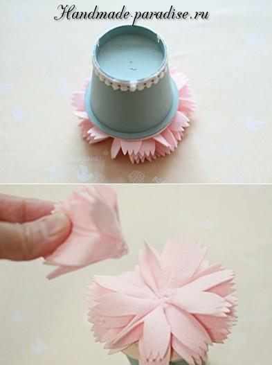 Декоративные горшочки с цветами из фетра (8)