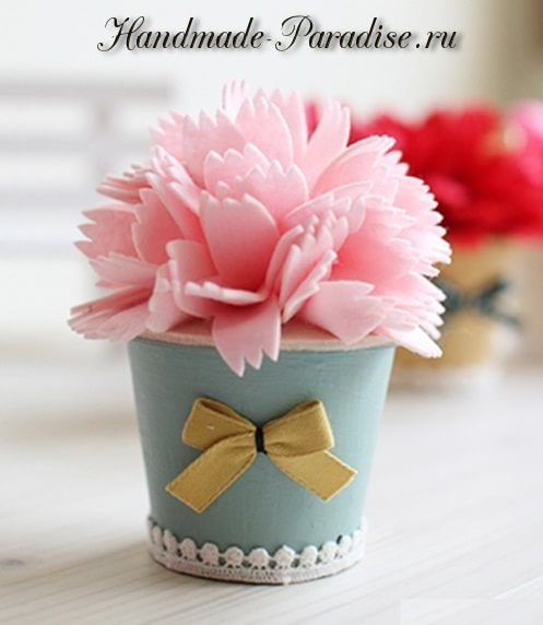 Декоративные горшочки с цветами из фетра (9)