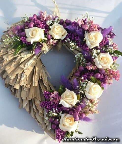 Экостиль. Валентинки из природных материалов (1)
