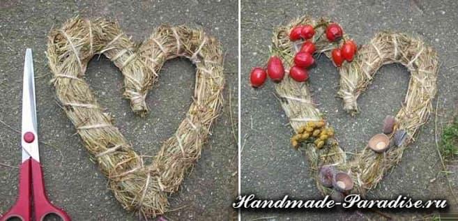 Экостиль. Валентинки из природных материалов (9)