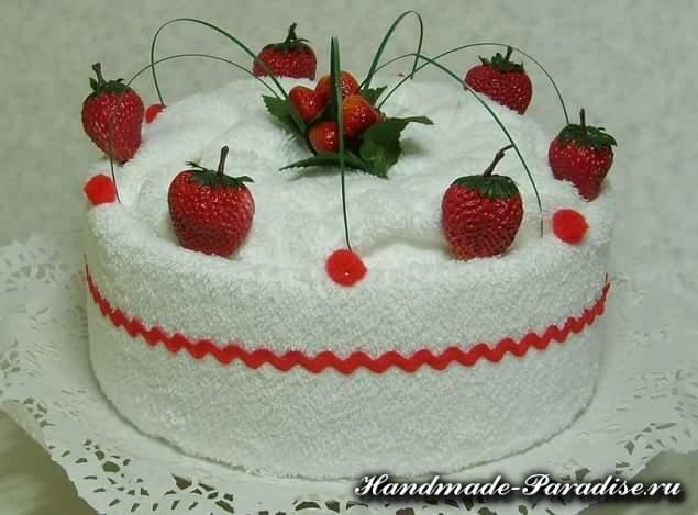 Как сделать торт из полотенец (10)