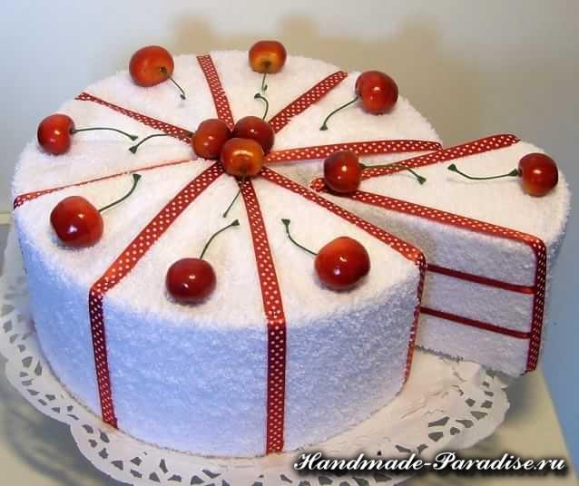 Как сделать торт из полотенец (12)